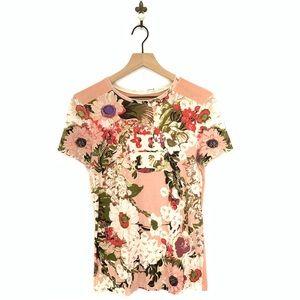 Tory Burch Floral Nina Tee Small Pink